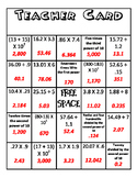 Multiplying and Dividing Decimals BINGO Cards