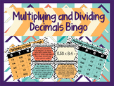 Multiplying and Dividing Decimals Bingo Activity with Task Cards