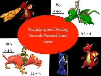 Multiplying and Dividing Decimals Board Game - Medieval Theme