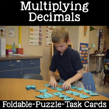Multiplication with Decimals: Foldable, Game and 24 Task Cards