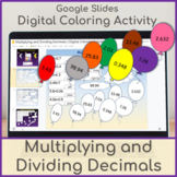 Multiplying and Dividing Decimals | Digital Coloring Activity | Sky