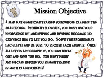 Multiplying and Dividing Decimals: Escape Room Math