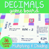 Multiplying and Dividing Decimals Game Board ~Aligned to 5.NBT.7 and 6.NS.3~