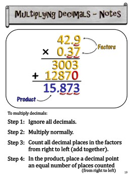 multiplying and dividing decimals made easy bundled unit by mike 39 s math mall. Black Bedroom Furniture Sets. Home Design Ideas