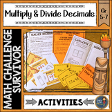 Multiplying and Dividing Decimals Math Challenge Survivor