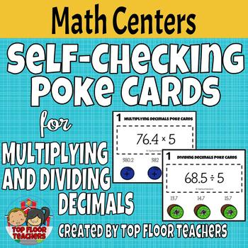 Multiplying and Dividing Decimals Poke Cards