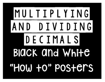 Multiplying and Dividing Decimals Posters