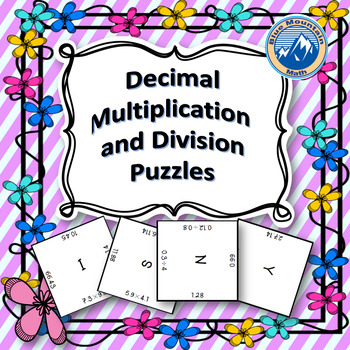 Multiplying and Dividing Decimals Puzzle Set