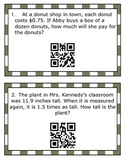Multiplying and Dividing Decimals SCOOT with QR Code Answers (TEKS 5.3E & 5.3G)