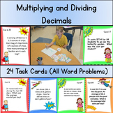 Multiplying and Dividing Decimals: Task Cards