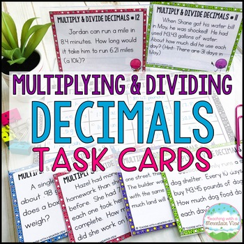 Multiplying and Dividing De... by Teaching With a Mountain View ...