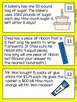 Multiplying and Dividing Decimals Word Problems