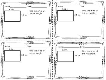Multiplying and Dividing Decimals by Decimals Exit Tickets