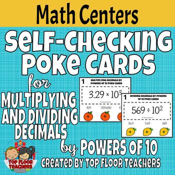 Multiplying and Dividing Decimals by Powers of Ten Poke Cards