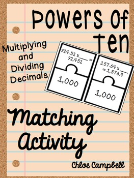 Multiplying and Dividing Decimals by Powers of Ten, Recognizing Patterns