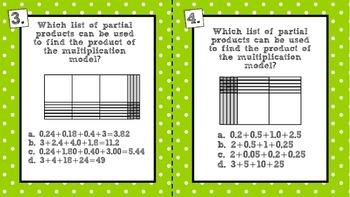 Multiplying and Dividing Decimals using Models Task Cards