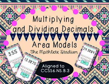 Multiplying and Dividing Decimals with Area Models Scavenger Hunt