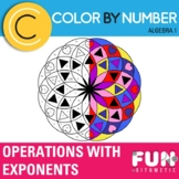 Multiplying and Dividing Exponents Color by Number