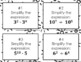 Multiplying and Dividing Exponents Task Cards