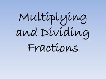 Multiplying and Dividing Fraction Task (World Fair)