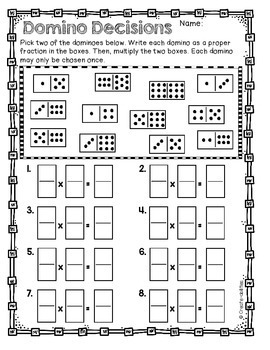 Multiplying and Dividing Fractions Activities