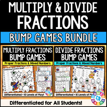 Multiplying and Dividing Fractions Bump: A Fractions Games Bundle