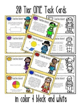 Fractions! Multiplying and Dividing: 40 Differentiated Task Cards