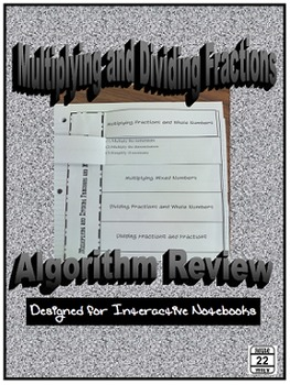 Multiplying and Dividing Fractions Clip and Flip Algorithms Review