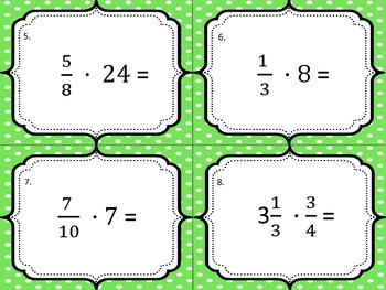Multiplying and Dividing Fractions Bingo