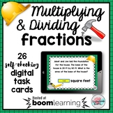 Multiplying and Dividing Fractions Boom Cards