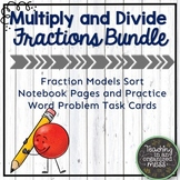 Multiplying and Dividing Fractions Bundle with Notes and W