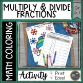Multiplying and Dividing Fractions Coloring with Math Winter