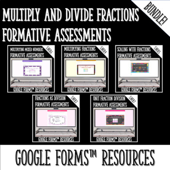 Multiplying and Dividing Fractions DIGITAL TASK CARDS BUNDLE