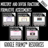 Multiplying and Dividing Fractions Formative Assessments f