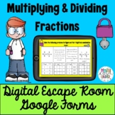 Multiplying and Dividing Fractions - Digital Escape Room Google Forms