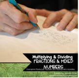 Multiplying and Dividing Fractions and Mixed Numbers Flippables & Quiz