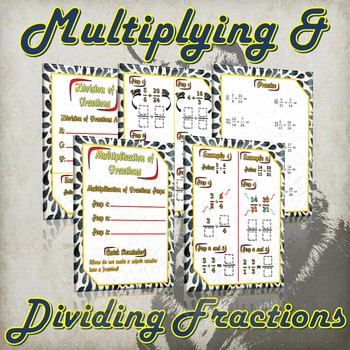 Multiplying and Dividing Fractions- (Guided Notes and Practice)