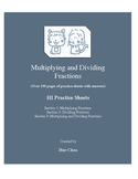 Multiplying and Dividing Fractions (HI Practice Sheets)