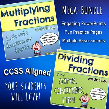 Multiplying and Dividing Fractions Made Easy (Bundled Unit) - CCSS Aligned