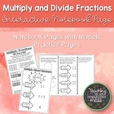 Multiplying and Dividing Fractions Math Notebook Page and