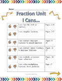 Multiplying and Dividing Fractions Notes
