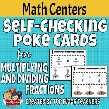 Multiplying and Dividing Fractions Poke Cards
