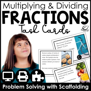 Multiplying and Dividing Fractions Word Problems Center