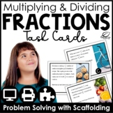 Multiplying and Dividing Fractions Word Problems Center | Distance Learning