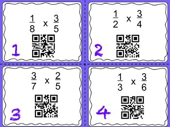 Multiplying and Dividing Fractions QR Task Cards