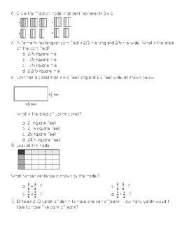 Multiplying and Dividing Fractions Quiz