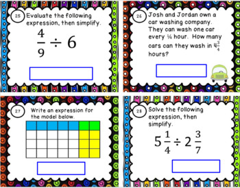 Multiplying and Dividing Fractions (SOL 6.4 and 6.6)