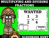 Multiplying and Dividing Fractions Scavenger Hunt
