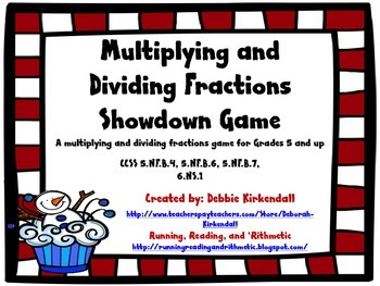 Multiplying and Dividing Fractions Showdown Game