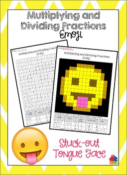 Multiplying and Dividing Fractions Stuck-Out Tongue Emoji